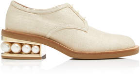 Nicholas Kirkwood Pearl-Trimmed Woven Derby Shoes