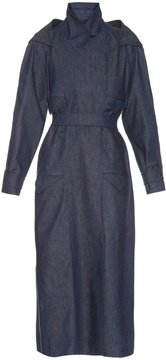 Emilia Wickstead Florence hooded denim trench coat