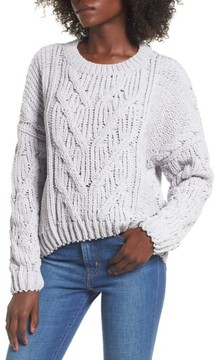 J.o.a. Women's Cozy Crewneck Sweater
