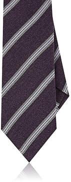 Isaia Men's Striped Silk Necktie