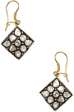 Amrapali Women's Silver, Gold & 1.22 Total Ct. Diamond Drop Earrings
