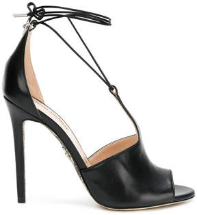 Cesare Paciotti lace-up stiletto sandals