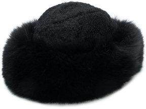 Borsalino bouclé fur trim hat