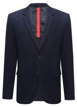 HUGO Boss Slim-fit tailored jacket reverse lapels 34R Dark Blue