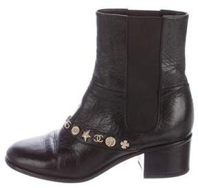 Chanel Lucky Charms Leather Ankle Boots