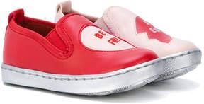 Stella McCartney color block slip-on sneakers