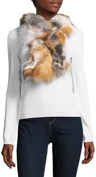 Saks Fifth Avenue Women's Multicolored Fox Fur Scarf