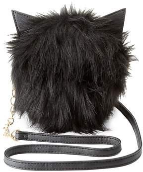 Charlotte Russe Faux Fur Cat Ear Crossbody Bag