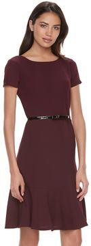 Elle Women's ElleTM Solid Drop-Waist Dress