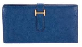 Hermes 2016 Chevre Mysore Bearn Wallet - BLUE - STYLE