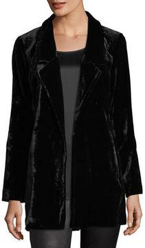 Eileen Fisher Velvet Long Blazer