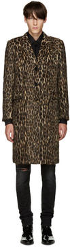 Saint Laurent Brown Leopard Coat