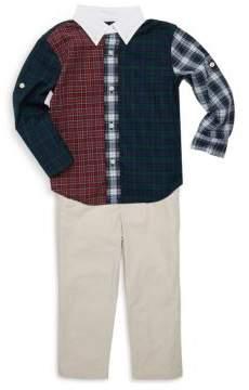 Ralph Lauren Boy's Three-Piece Shirt Pants And Belt Set