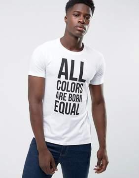 Benetton Equal Slogan T-Shirt