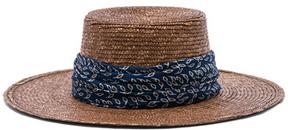 Janessa Leone Louis Bolero Hat in Brown.