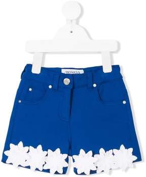 Simonetta floral appliquée shorts