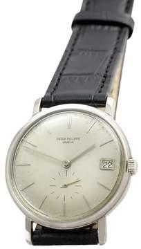 Patek Philippe Calatrava 3445 18K White Gold Automatic Vintage 35mm Mens Watch