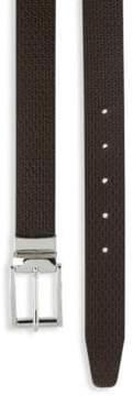 Saks Fifth Avenue Reversible Twist Buckle Leather Belt