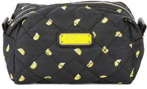 Marc Jacobs Black Quilted Nylon Lemon Print Large Cosmetics Case (New with Tags)