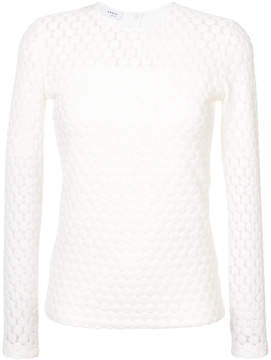 Akris Punto embroidered long-sleeve top