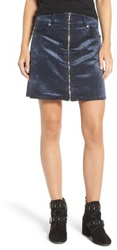 7 For All Mankind Women's Velvet Miniskirt