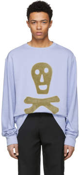 Loewe Blue Oversized Skull Sweatshirt