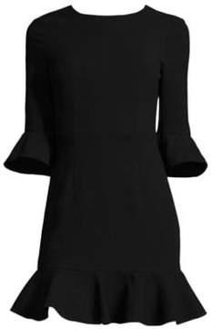 Black Halo Flutter-Sleeve Dress