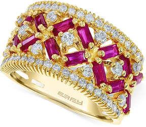 Effy Ruby (1-3/4 ct. t.w.) and Diamond (5/8 ct. t.w.) Ring in 14k Rose Gold, Created for Macy's