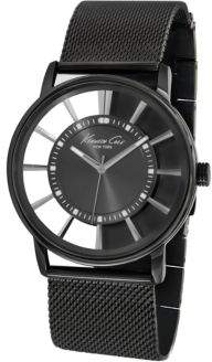 Kenneth Cole Men's Gunmetal-Tone Watch with Mesh Bracelet Strap