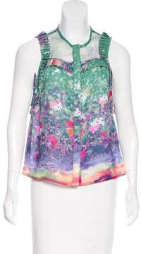 Timo Weiland Floral Print Sleeveless Top