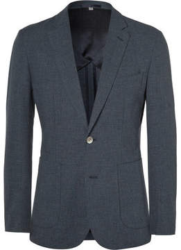 Hardy Amies Navy Slim-Fit Cotton-Blend Blazer