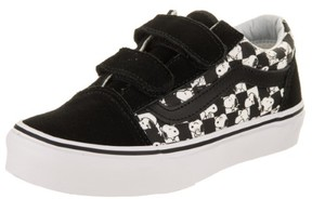 Vans Kids Old Skool V (Peanuts) Snoopy/Checkerboard Skate Shoe 2 Kids US