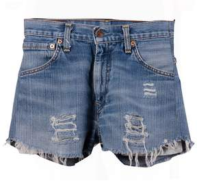 Chiara Ferragni Eye Patch Denim Shorts
