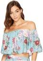 Show Me Your Mumu - Heidi Ruffle Crop Top Women's Clothing