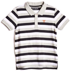 GUESS Striped Logo Polo (7-18)