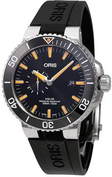 Oris Aquis Small Second Black Dial Men's Watch