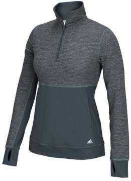 adidas Women's CLIMALITE Twist 1/2 Zip Pullover Tee (Onix Grey, Medium, Regular)