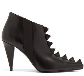 Loewe Zigzag-trim leather ankle boots