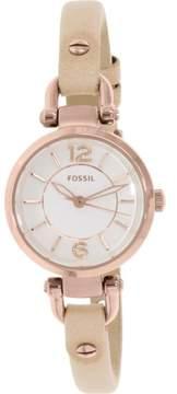 Fossil Women's Georgia ES3745 Beige Leather Analog Quartz Fashion Watch