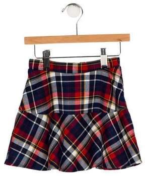 Imoga Girls' Plaid Flare Skirt