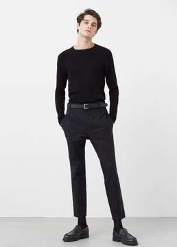 Mango Outlet Pleated crop chinos