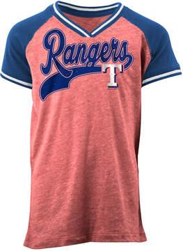 5th & Ocean Texas Rangers Rhinestone Script T-Shirt, Girls (4-16)