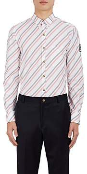 Moncler Gamme Bleu Men's Striped Cotton Oxford Cloth Shirt