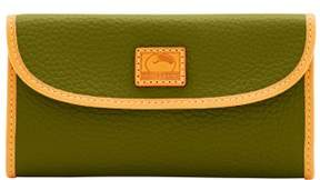 Dooney & Bourke Patterson Leather Continental Clutch Wallet - OLIVE - STYLE