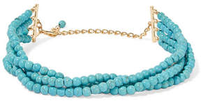 Kenneth Jay Lane Gold-plated Beaded Necklace - Turquoise