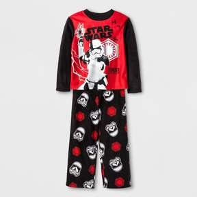 Star Wars Boys' First Order Stormtrooper 2pc Long Sleeve Pajama Set - Black/Red