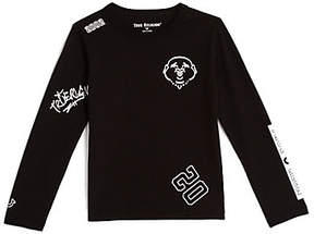 True Religion TODDLER/LITTLE KIDS TAGGED GRAPHIC LONG SLEEVE SHIRT