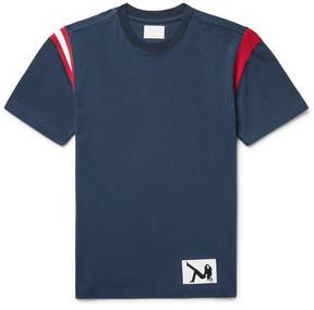 Calvin Klein Stripe-Trimmed Cotton-Jersey T-Shirt
