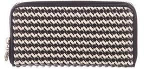 Bvlgari Textured Leather Zip-Around Wallet