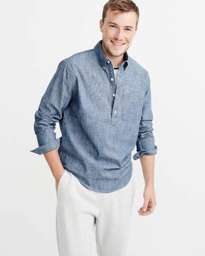 Abercrombie & Fitch Popover Chambray Shirt